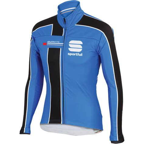 blue cycling jacket wiggle sportful gruppetto partial windstopper jacket