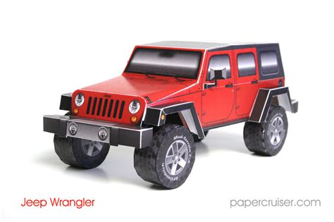 Papercraft Jeep - jeep wrangler jk 4 door wagon completed 171 papercruiser