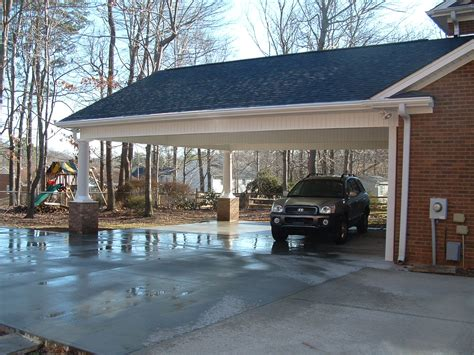garage with screened porch carport and screen porch additions white addition before