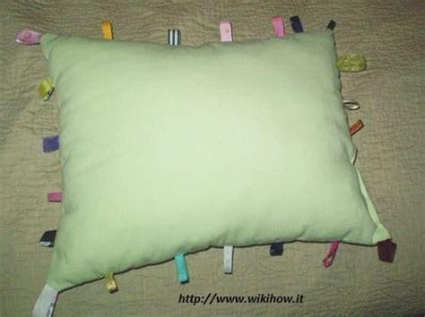 cuscino fai da te riciclo tessuti fai da te non sprecare
