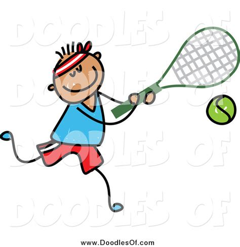 doodle tennis vector clipart of a doodle boy tennis by prawny 870