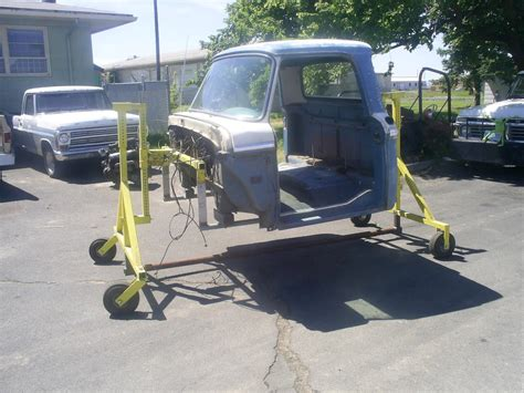 homemade truck cab cab dolly for removing the cab ford truck enthusiasts forums