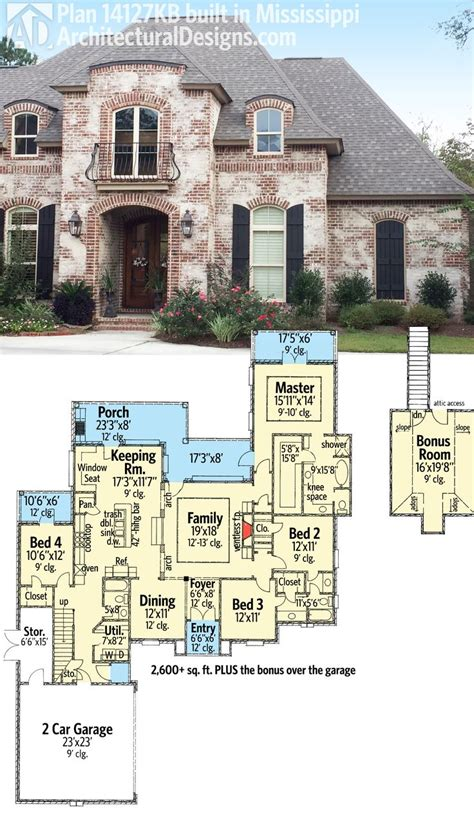 acadian house plans with bonus room plan 14127kb graceful and elegant 4 bed acadian house