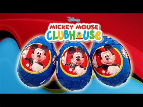 mickey mouse surprise eggs play toys kinder chocolate 3 mickey mouse kinder surprise eggs unwrapping zaini