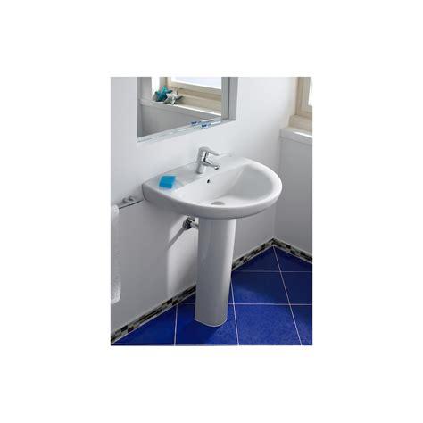 lavabos pedestal lavabo con pedestal 52x41cm roca materiales de