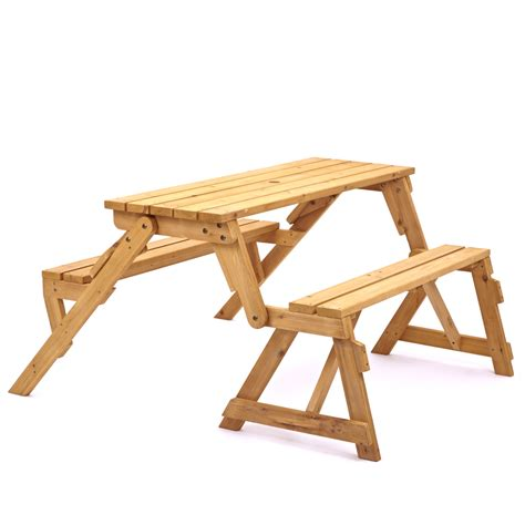 picnic table converts to bench trueshopping modbury two in one convertible garden bench