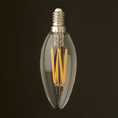 Led E14 4 watt dimmable filament led e14 candle bulb