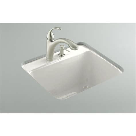 white cast iron sink shop kohler white cast iron laundry sink at lowes com