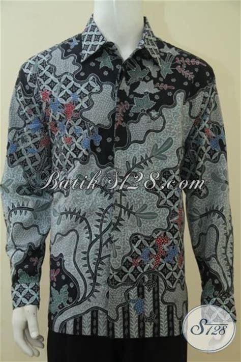 Baju Panjang Abu Abu Motif baju batik motif batang daun dengan warna abu abu model