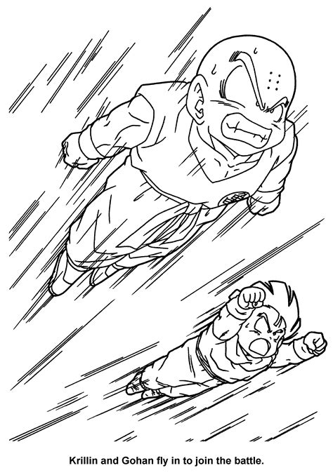 coloring book pages z z coloring page featuring krillin and gohan