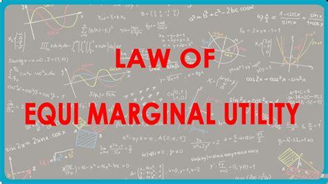 law of equi marginal utility 1144 cbse economics class xii law of equi marginal