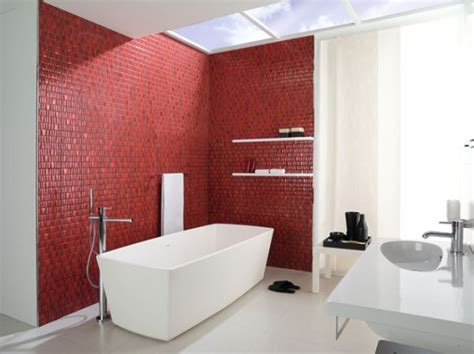 red bathroom when to incorporate red in a bathroom