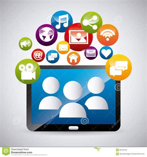 design graphics for social media social media stock vector image 60445132