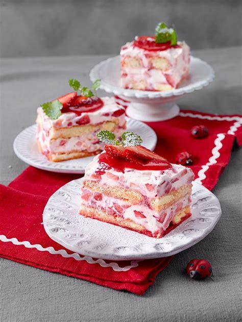 rezepte für kuchen schnell die 25 besten ideen zu erdbeer mascarpone torte auf