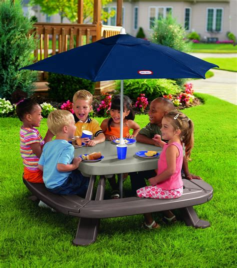 Tikes Fold N Store Table by Tikes Fold N Store Table With Market Umbrella Only 79 99 Reg 129 99