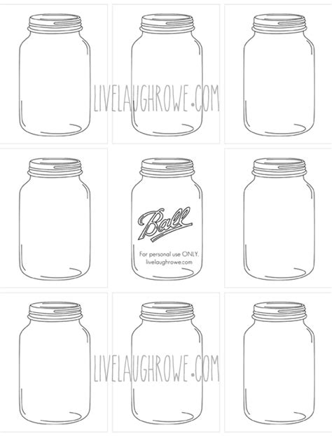 jar tags template jars for printing and crafting with livelaughrowe