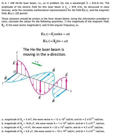 what is lambda in physics a 1 mw he ne laser beam i e as in problem 3