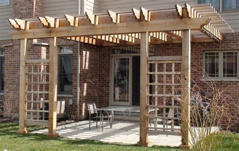 attached pergola designs cedar pergola