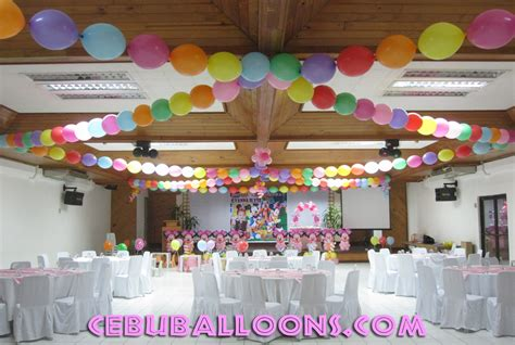 decor links linking balloons ceiling decoration cebu balloons and