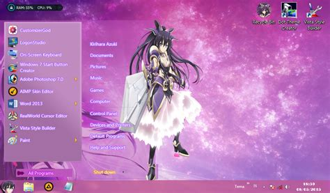 download theme windows 7 yatogami tohka yatogami tohka date a live