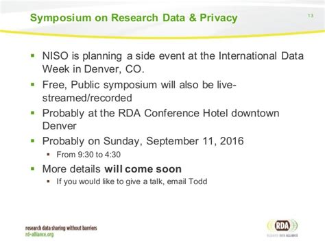 doodle polls setup rda niso working on privacy implications of research
