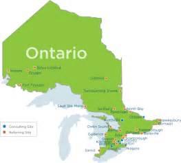 map of ontario province canada telestroke otnhub