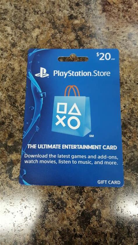 Sony Playstation Gift Card - sony playstation store gift card 20 card in hand ready to ship like new buya