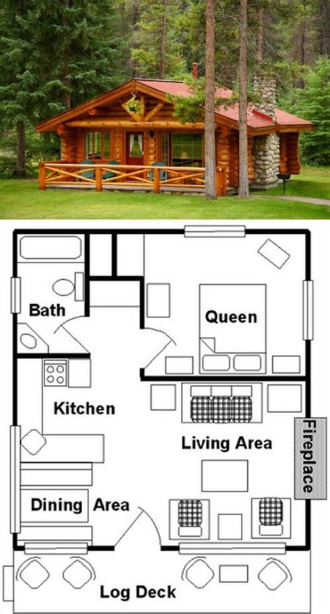 Top 28 One Bedroom Log Cabin Plans Log Home Floor