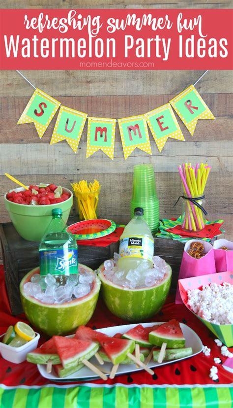 fun summer party ideas summer fun watermelon party ideas