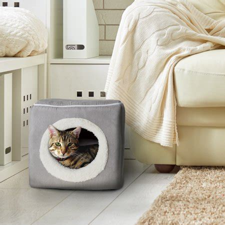Enclosed Cat Bed by Cat Pet Bed Cave Soft Indoor Enclosed Covered Cavern