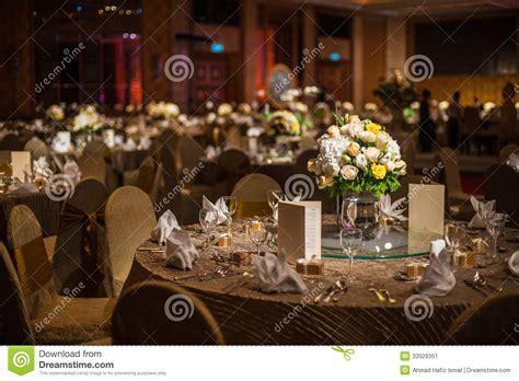 Elegant Dinner Table Stock Image   Image: 32029351