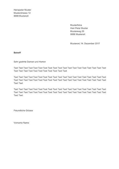 brief modern vorlage briefvorlage schweiz sichtfenster links rechts muster vorlage ch