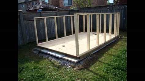 building  backyard garden shed youtube