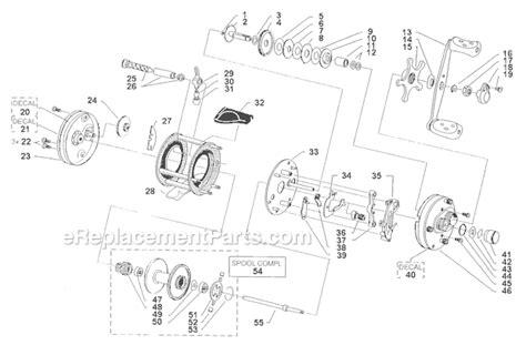 abu garcia parts diagrams abu garcia 5000 parts list and diagram 09 01