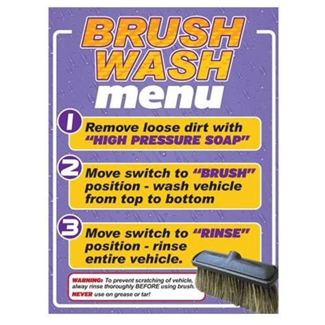 Kleen Up Laundry Brush 0504 car wash foam brush sign kleen rite