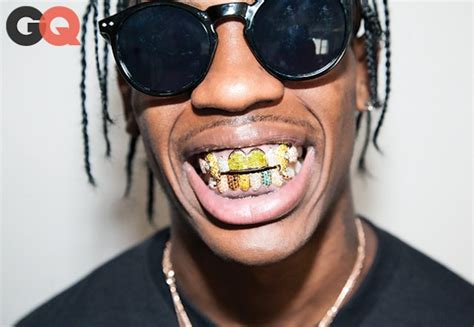 young thug yellow eyes travis scott talks to gq about grillz nyfw kanye west