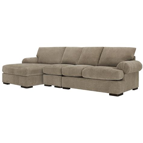 taupe sectional sofa microfiber chaise lounge living room city furniture belair dk taupe microfiber small left