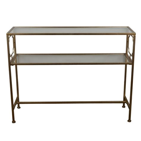 console table with shelves decor therapy gold glass shelves console table fr6354