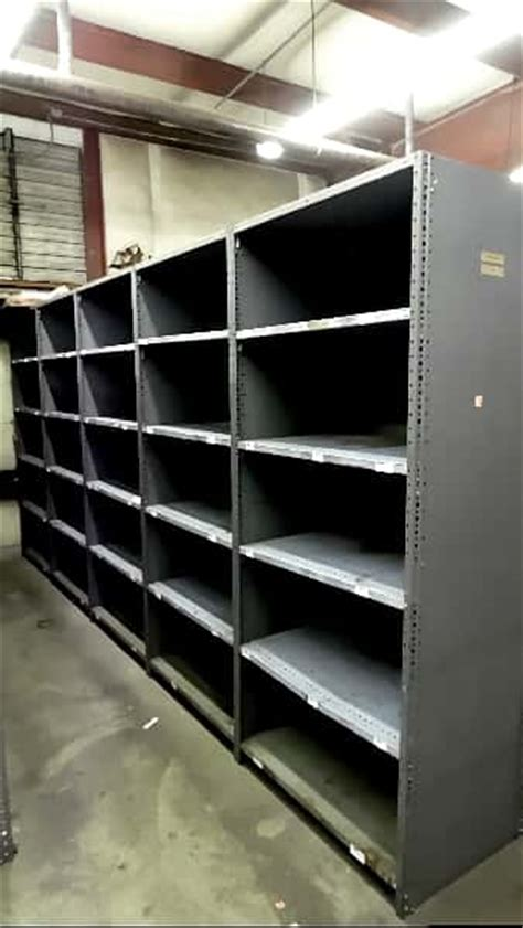 used industrial metal shelving triboro starter bay 24 x 36