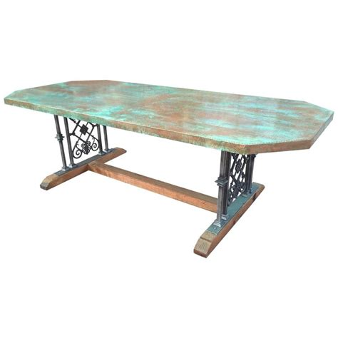 Custom Designed Copper Dining Table For Sale At 1stdibs | custom designed copper dining table for sale at 1stdibs