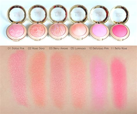 Baked Blush Milani milani baked blush review swatches by bonnie hu