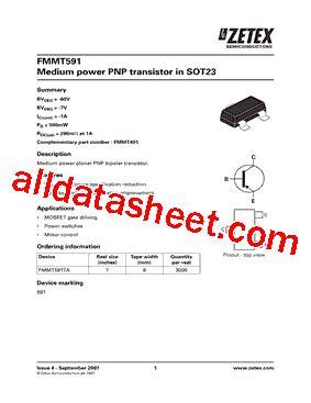 diodes inc ta suffix fmmt591ta 数据表 pdf diodes incorporated