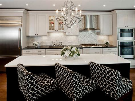 white transitional kitchens black and white transitional kitchen photos hgtv