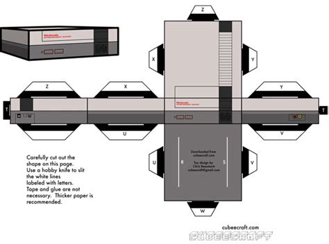 Xbox Papercraft - xbox papercraft template images
