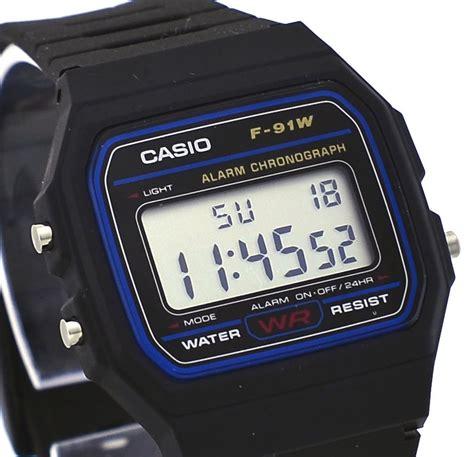 Casio Classic F91w casio f91w 1 s classic black resin band alarm