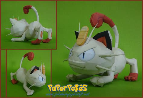 Papercraft For Sale - ninjatoes papercraft weblog papercraft pok 233 mon meowth
