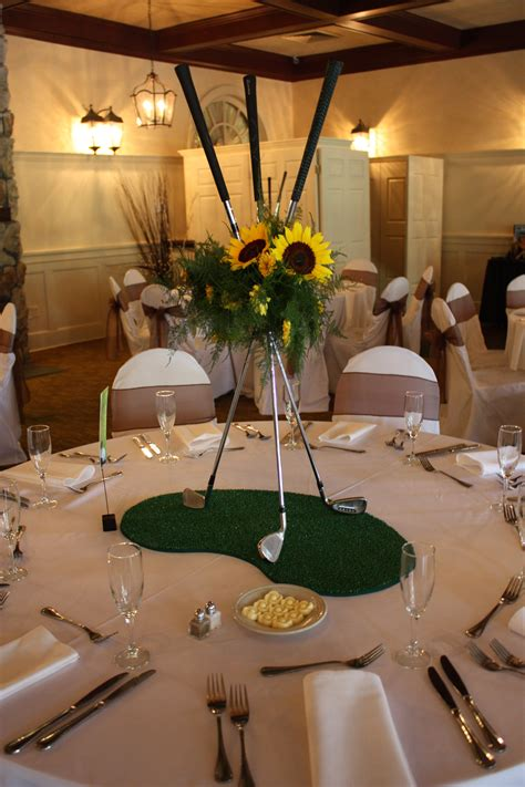 golf themed decorating ideas sunflowers and golf clubs so for a golf themed
