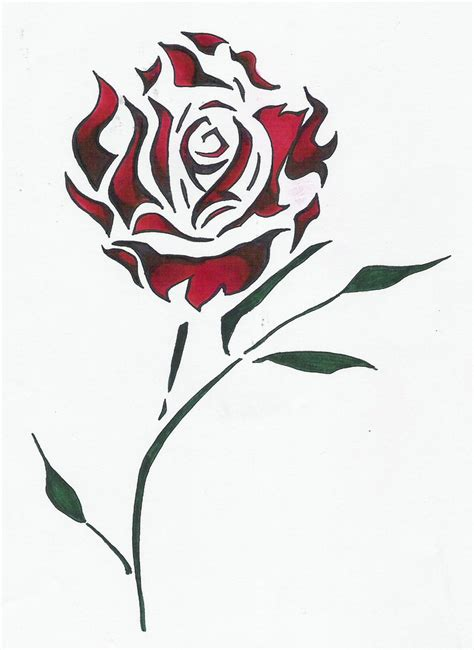 rose design by jenieo on deviantart