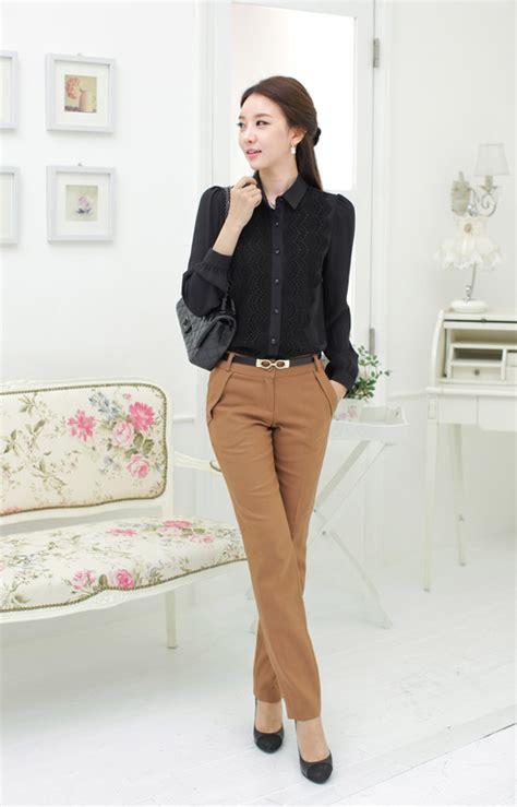 Baju Atasan Kemeja Renda Wanita Korea Putih Tangan Panjang Mb1507133 kemeja wanita model renda modis model terbaru jual