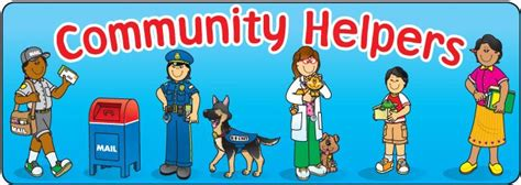 Word Signs Home Decor by Community Helpers Clipart Carson Dellosahelpers Clipart